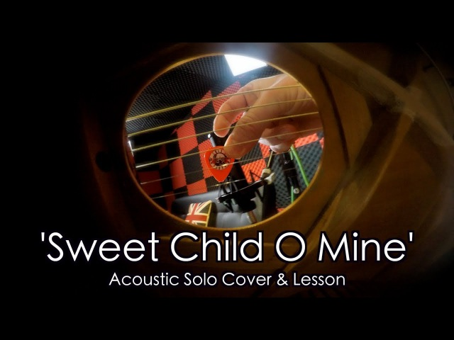 'Sweet Child O Mine' Solo by Guns N Roses - Acoustic Guitar Cover Lesson