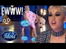 DOG POOPS All Over Girls American Idol Dream SHOCK AUDITION Idols global