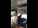 Это в 14 маршрутке с номером 590 BMA  дым шёл возле водителя ...Дышать в маршрутке нечем....