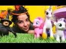 Pinkie Pie, Celestia ve Rarity oyuncakları. Sihirli video