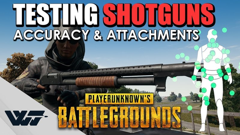TEST: Which Shotgun is the MOST ACCURATE? - New attachment - Pellet spread COMPARISON - PUBG