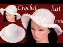 Sombrero a Crochet en punto de argollas en 3D tejido tallermanualperu
