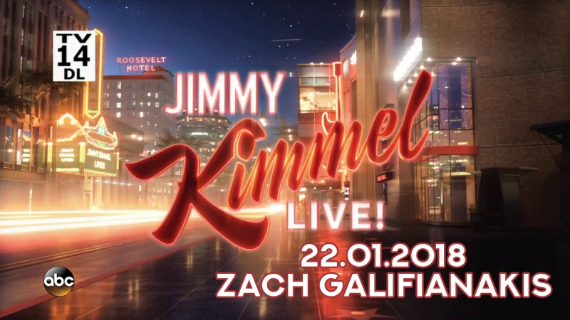 Jimmy Kimmel Live 22 01 2018 Zach Galifianakis