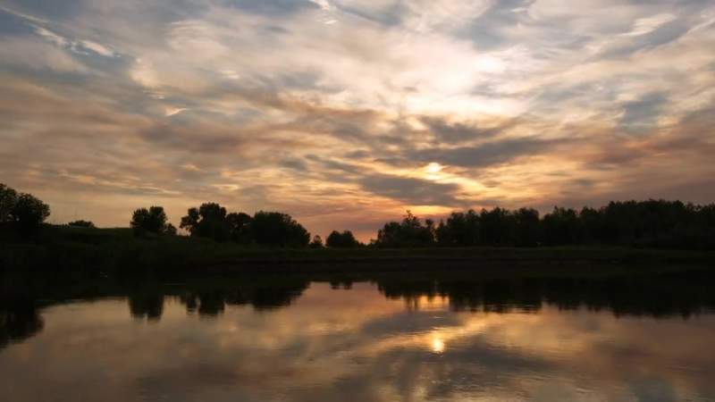 Закат на реке Ахтуба. 15.07.2014