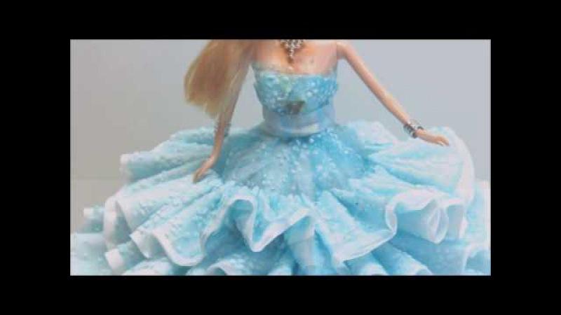 DIY платье для барби своими руками из пластиковой бутылки