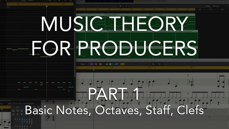 Music Theory for Producers 01 - Basic Notes, Octaves, Staff, Clefs