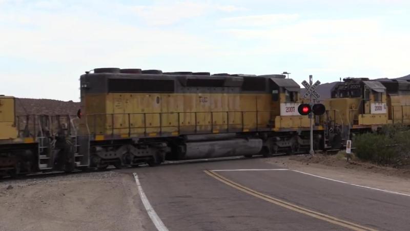 Amerikanische Güterzüge.