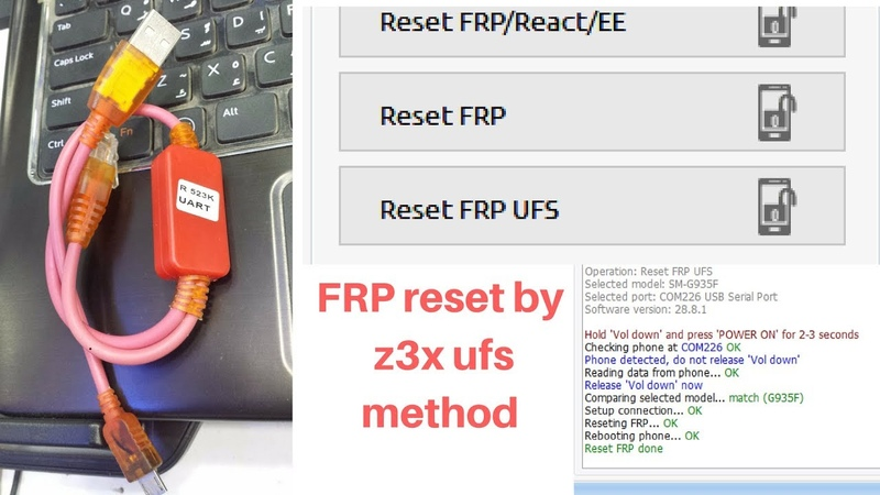 SAMSUNG S7 EDGE | SM-G935F | Nougat 7.0 frp remove by Z3X RESET FRP UFS Method.