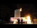《Нам не нужно разрешение Америки Долой колониальную систему США 》 южнокорейская акция протеста
