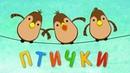 Детские песни - ПТИЧКИ Ворона, воробей, курица, попугай - Развивающие мультики для малышей