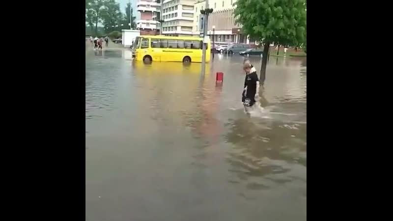 Новополоцк затопило