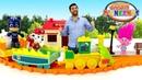 Jardin denfants № 66. Vidéo en français pour enfants. Construction du chemin de fer