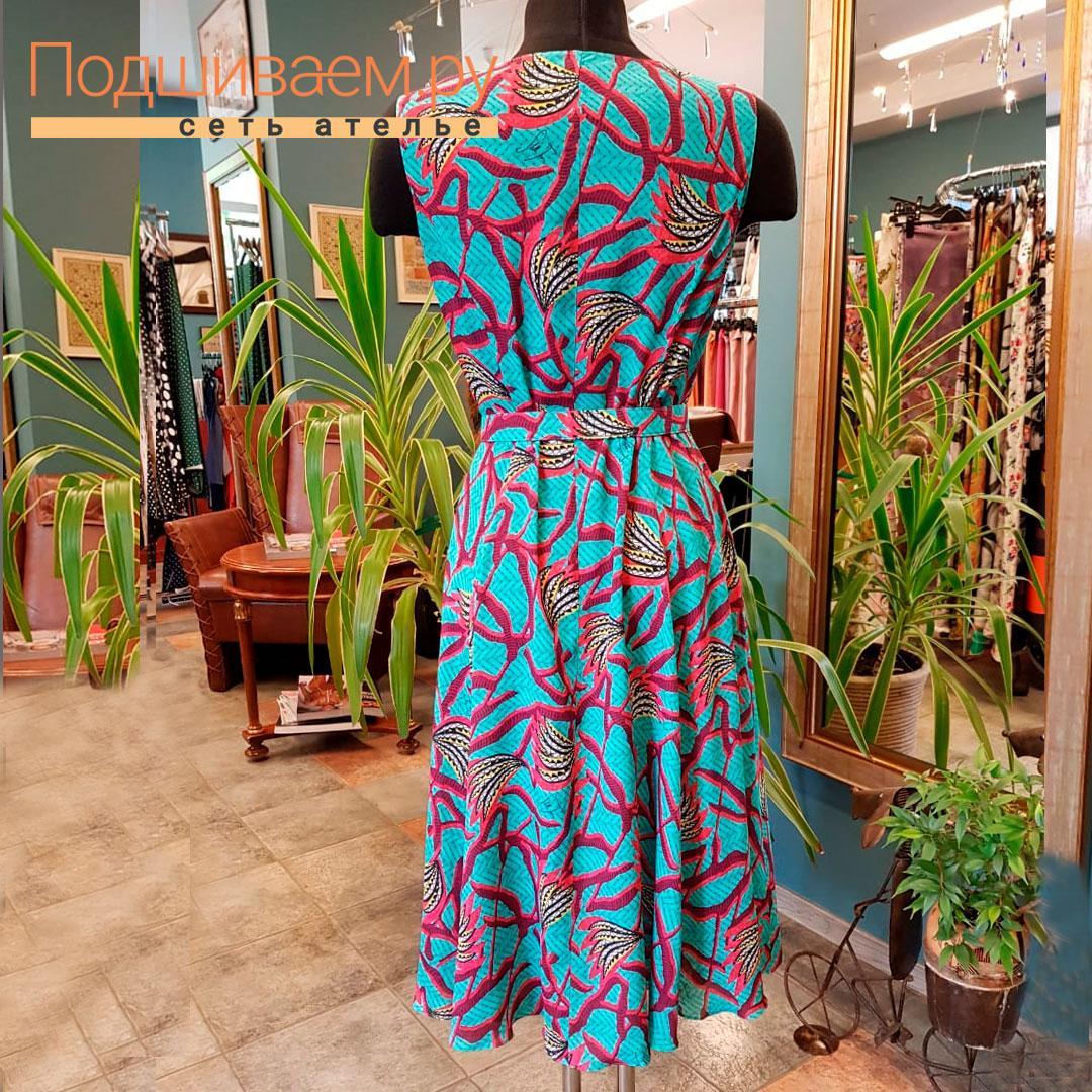Пошив женского платья в сети ателье Подшиваем.