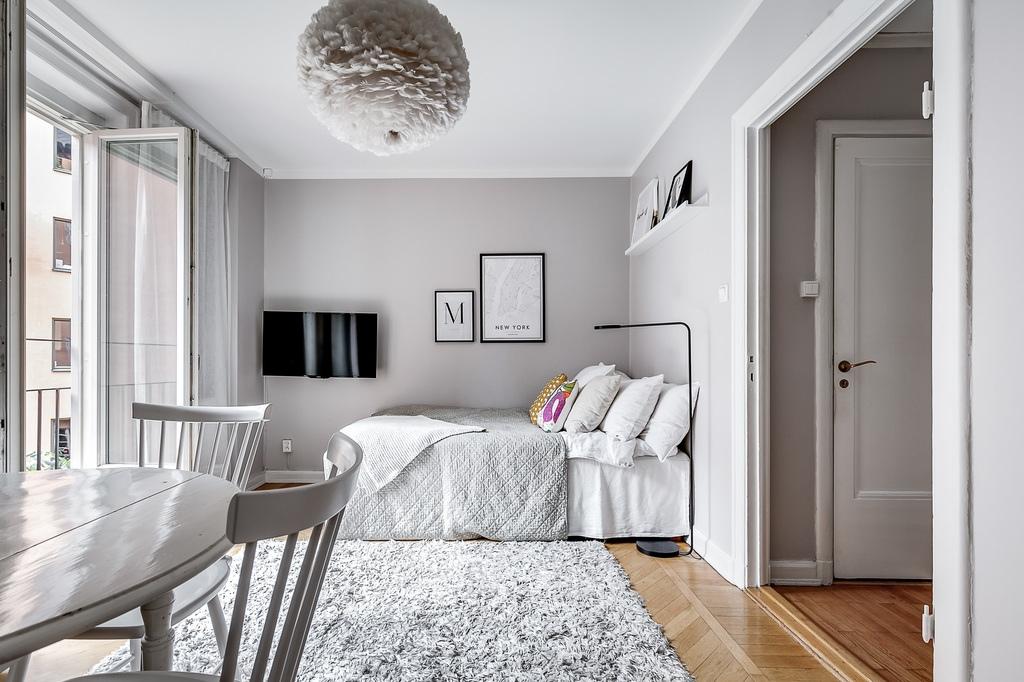 Маленькая шведская квартира-студия 20 м.