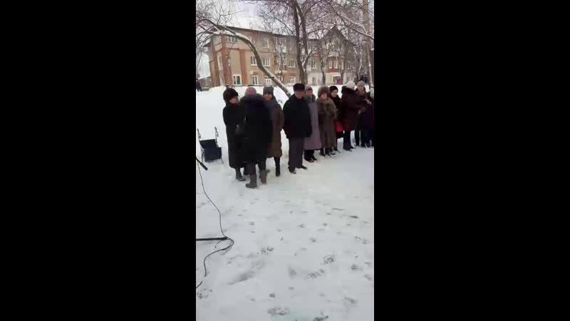 Митинг, посвященный 30-летию вывода войск из Афганистана. п. Уральский