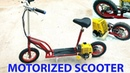 Build a Motorized Scooter at home Using 4 stroke Engine Tutorial