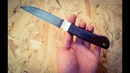 изготовление ножа из подшипника making a knife of bearing