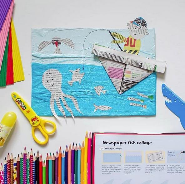АППЛИКАЦИЯ ИЗ БУМАГИ ДЛЯ ДЕТЕЙ. Здесь могла быть ваша реклама. Но мы вырезали из неё рыбок , сделали кораблик и приклеили на бумагу-тишью Автор поделки