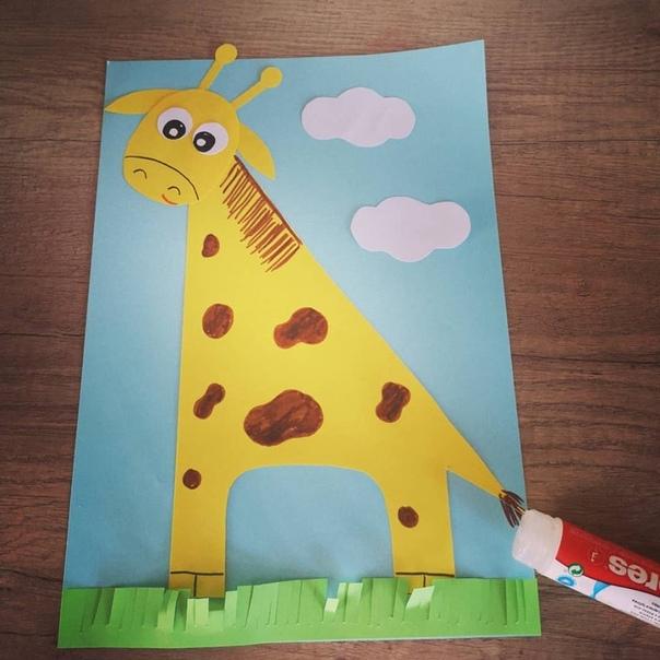 Аппликация: Жираф