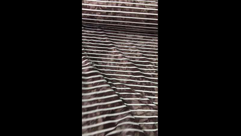 Вискоза Полоски на коричневой варенке