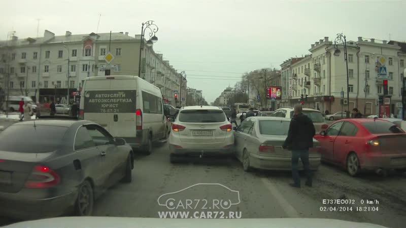Видео ДТП на Республики - Орджоникидзе попало в сеть.