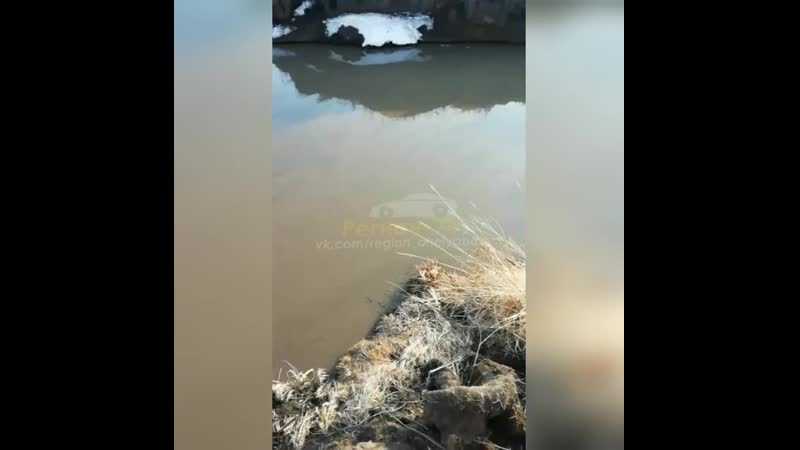 Возле Университетской набережной сливают нечистоты в реку Миасс
