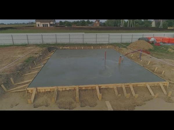 Строительство фундамента.Пример как надо заливать бетон.Благоустройство.рф