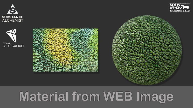 Material from WEB image (Substance Alchemist - A.I.Gigapixel)