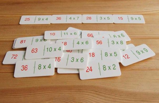 МАТЕМАТИЧЕСКОЕ ДОМИНО Когда ребенок осваивает ту или иную математическую операцию, можно задействовать игры, которые помогают закреплять эти операции. Например, использовать принцип домино. Вам