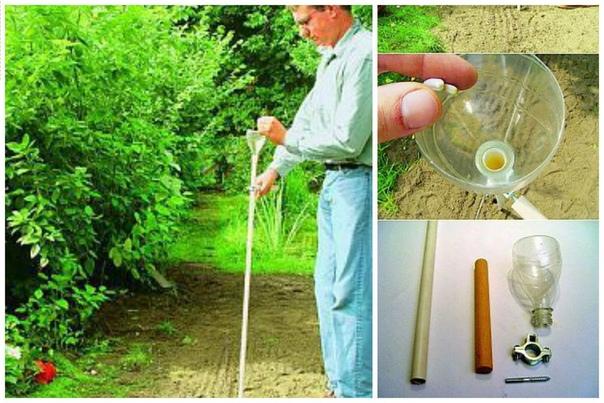Зачем наклоняться для высадки мелких семян Сделайте такое приспособление из трубки и половины бутылки и высаживайте не наклоняясь