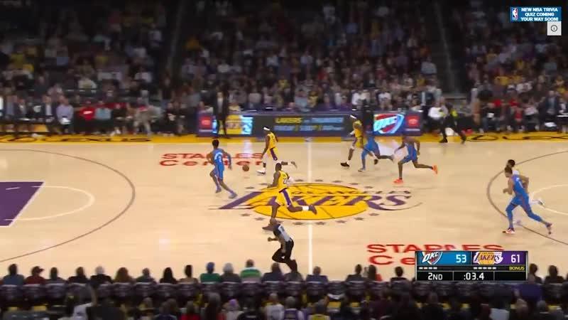 Los Angeles Lakers vs OKC Thunder - Full Game Highlights - November 19, 2019-20 NBA Season