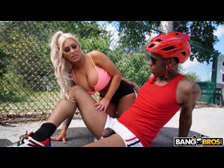 Brandi Bae - Having A Good Time With A Huge Cock (Big Ass, Big Tits, Blonde, Blowjob, Interracial)