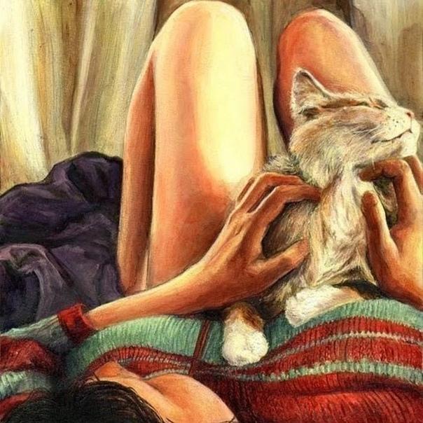 Кот поежился на диване - ну что же она так долго. Последнее время поздние приходы хозяйки не предвещали ничего хорошего. У неё появился новый друг, но она явно воспринимала его как то по