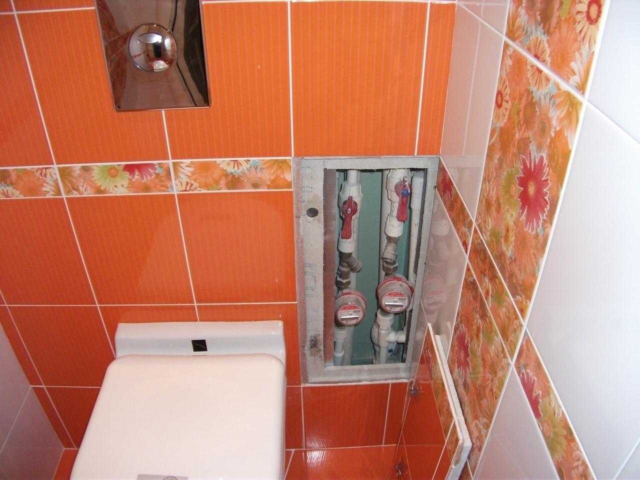Ванная комната и санузел - яркое оранжевое настроение