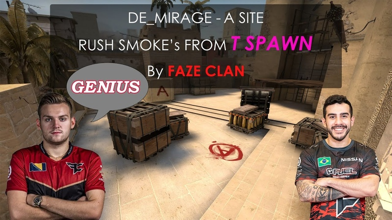 Mirage A Fast rush smokes by Faze Clan