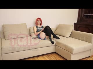 Skinny Redhead Teen Girl Reveals she is doing Hardcore Porn
