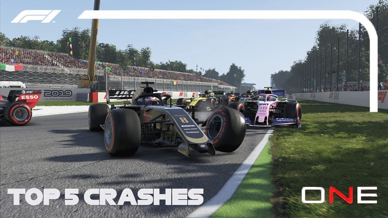 ONBOARD|ESPORTS F1 2019 Top-5 Crashes