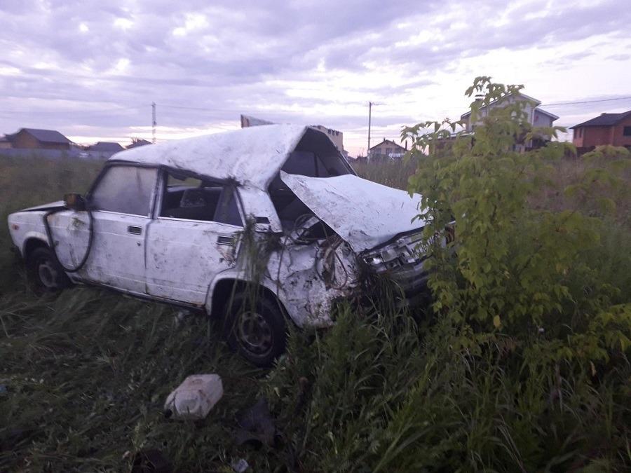 В Марий Эл пьяный водитель перевернул авто с семьей