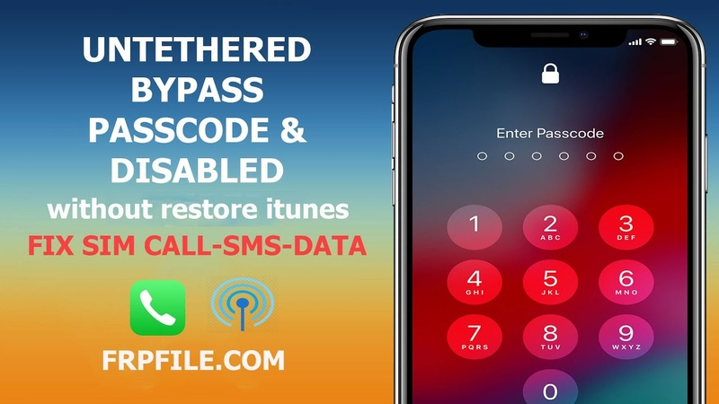 Bypass passcode disabled iphone fix sim call SMS cellular set passcode without restore itunes