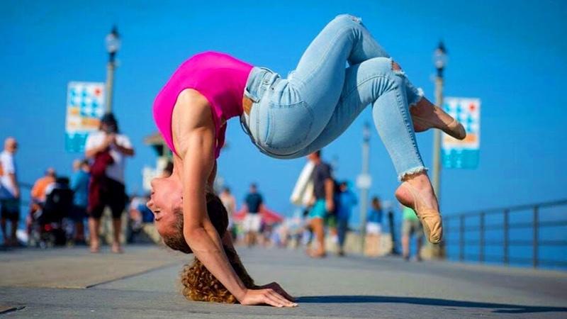 Greatest Flexibility Little Girl Gymnastic Tricking Stunts@TKD Action