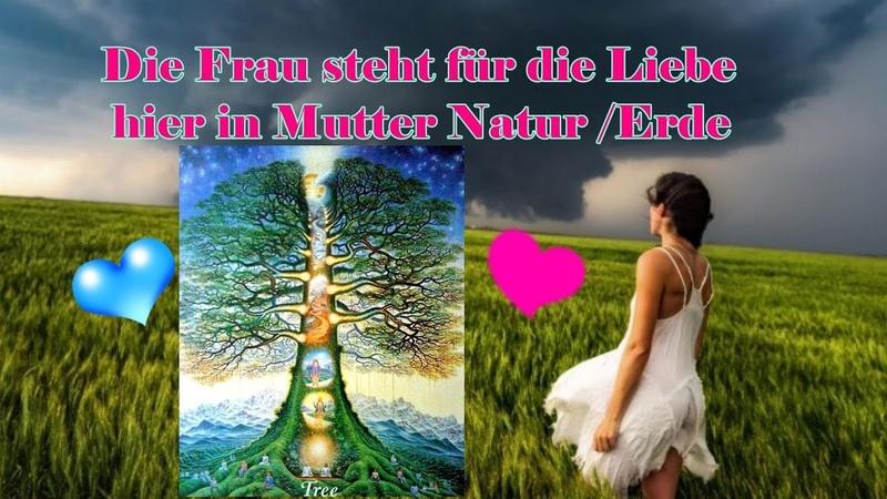 Die Frau steht für die Liebe in Mutter Natur Erde