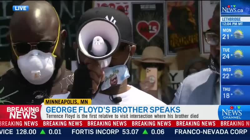 20-06-01 Looting 'not going to bring my brother back' Floyd on riots