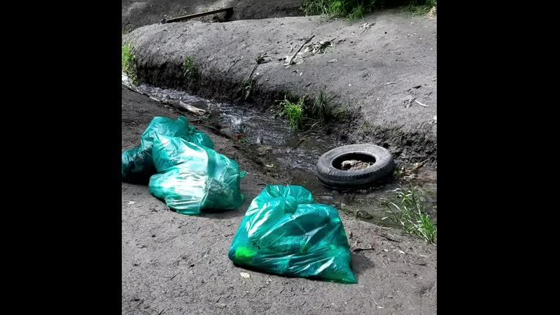 чистят балку Рябинина 30 05 2020 г