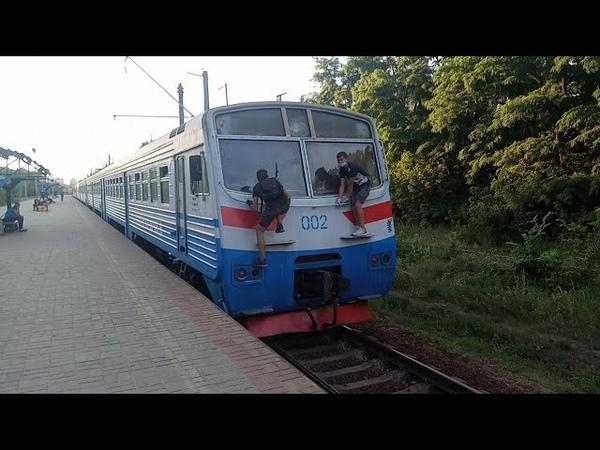 недозапуск городской электрички зацеперы Эпл9т 002 с вечерним почасовым маршрутом ст Борщаговка