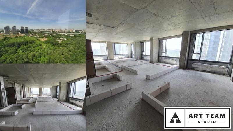 ЖК Небо Башня TANDEM 106 77 м кв Угловая квартира с шестью панорамными окнами АртТим