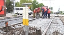 В Засвияжском районе Ульяновска продолжается замена трамвайных путей