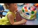 день рождение моей сладкой дочи 3 года счастья