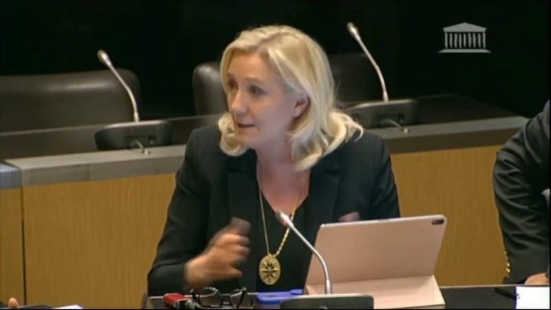 Marine Le Pen en commission d'enquête parlementaire sur l'attentat à la Préfecture de Paris