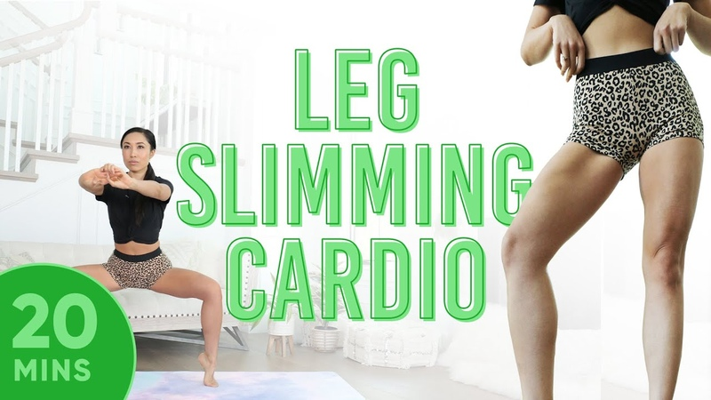 20 Minute Leg Slimming Cardio Pilates Workout 7 Day Thigh Challenge do this video every day