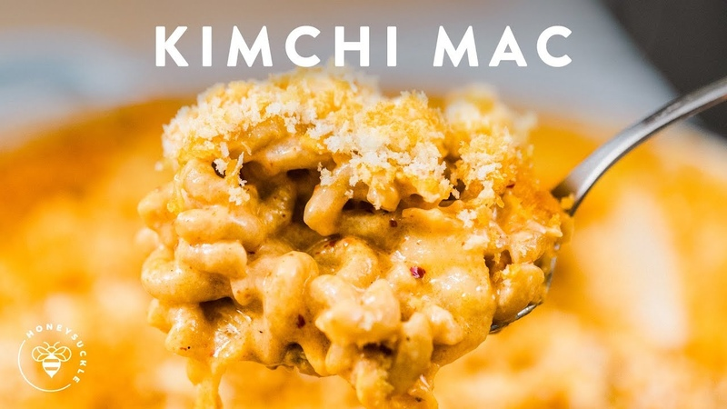 Gooey KIMCHI MAC CHEESE 🍜🧀Delish Noodle Series | HONEYSUCKLE